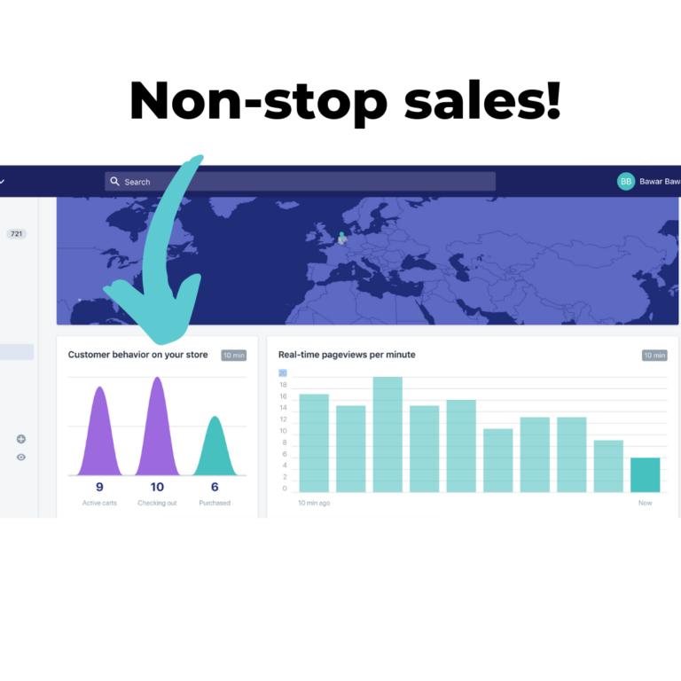 Non-stop sales!