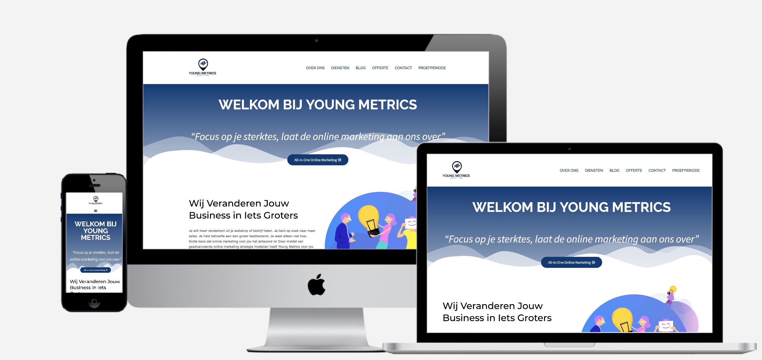 Young Metrics Mock up Young Metrics