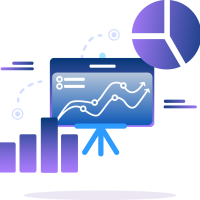icon chart analytic graph young metrics